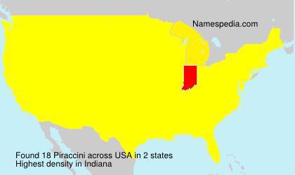 Surname Piraccini in USA