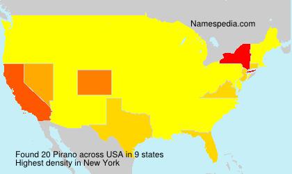 Familiennamen Pirano - USA