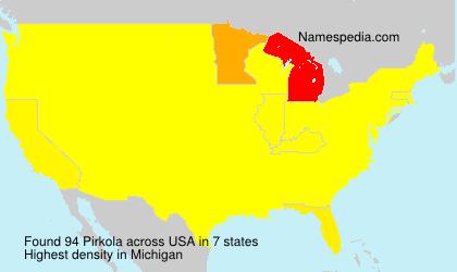 Surname Pirkola in USA