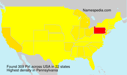 Surname Pirl in USA