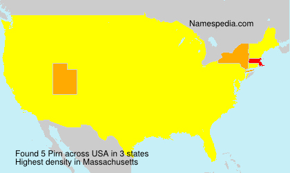 Surname Pirn in USA