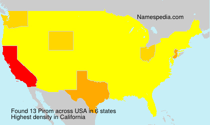 Surname Pirom in USA