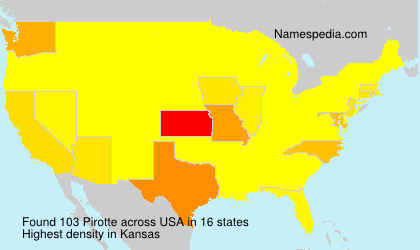 Surname Pirotte in USA
