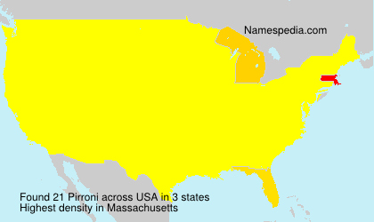 Surname Pirroni in USA
