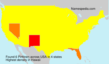 Surname Pirttinen in USA