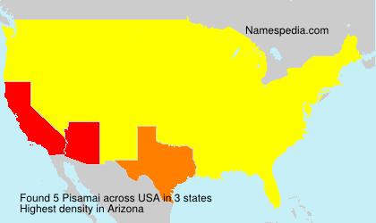 Familiennamen Pisamai - USA