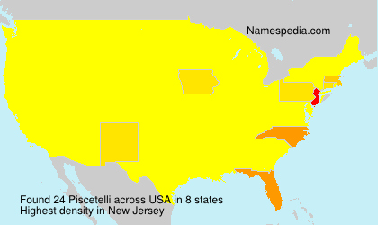 Surname Piscetelli in USA