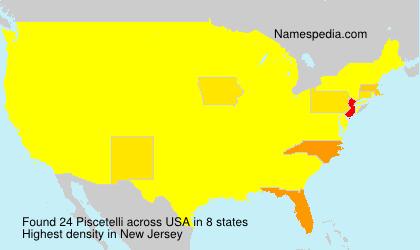 Surname Piscetelli in USA
