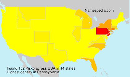 Surname Pisko in USA