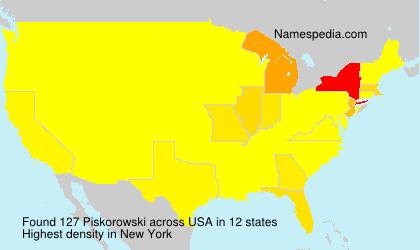 Familiennamen Piskorowski - USA