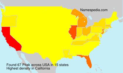 Surname Pitak in USA