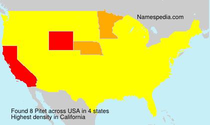 Familiennamen Pitet - USA