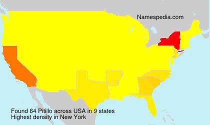 Surname Pitillo in USA