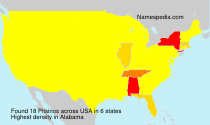 Surname Pitsinos in USA