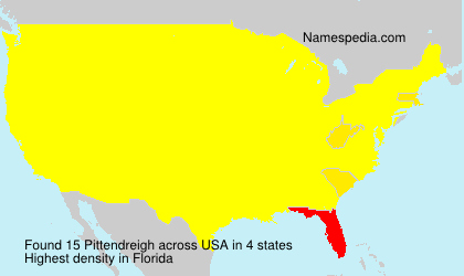 Surname Pittendreigh in USA