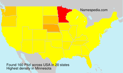 Surname Pitzl in USA