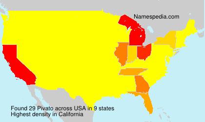 Surname Pivato in USA