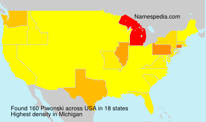 Surname Piwonski in USA