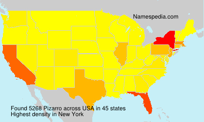 Surname Pizarro in USA