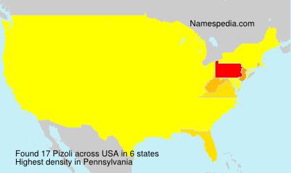 Surname Pizoli in USA