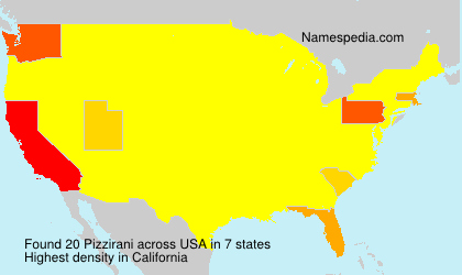 Surname Pizzirani in USA