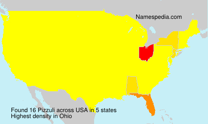 Surname Pizzuli in USA