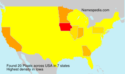 Surname Plaats in USA