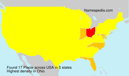 Surname Placie in USA