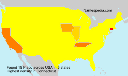 Surname Placo in USA