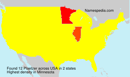 Surname Plaetzer in USA