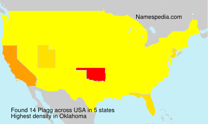 Surname Plagg in USA