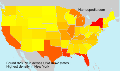Surname Plain in USA
