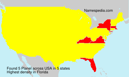 Surname Planel in USA