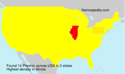 Surname Planinic in USA