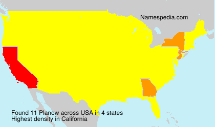 Surname Planow in USA