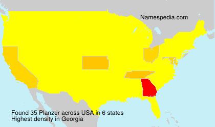 Familiennamen Planzer - USA