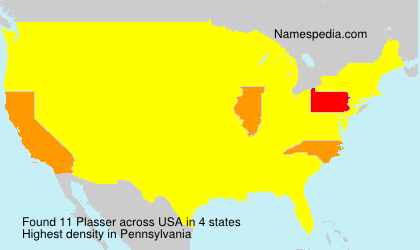 Surname Plasser in USA
