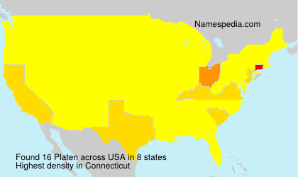 Surname Platen in USA