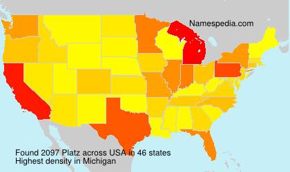 Surname Platz in USA