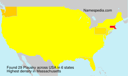 Surname Plausky in USA