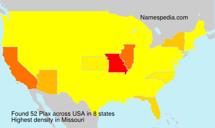 Surname Plax in USA