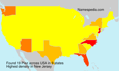 Surname Plaz in USA