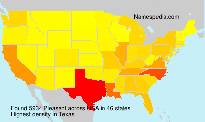 Surname Pleasant in USA