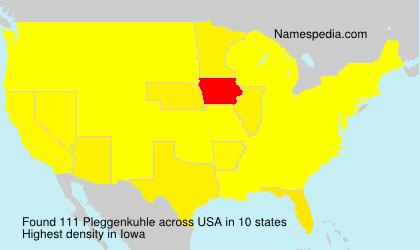 Surname Pleggenkuhle in USA