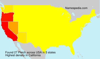 Surname Pleich in USA