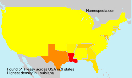 Surname Plessy in USA
