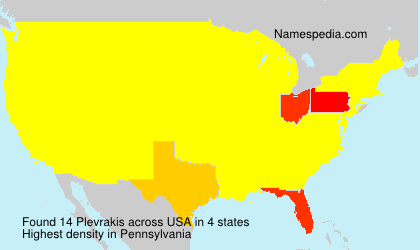 Surname Plevrakis in USA