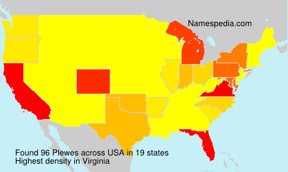 Surname Plewes in USA