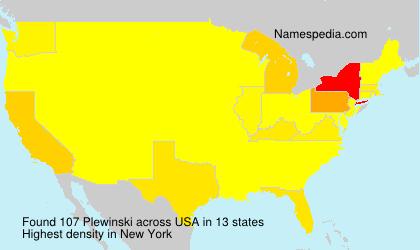 Familiennamen Plewinski - USA