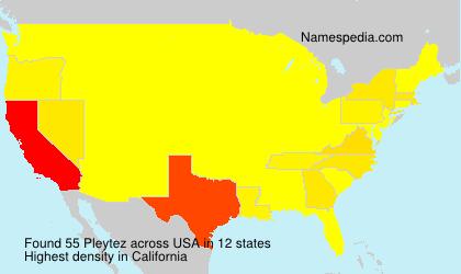 Surname Pleytez in USA